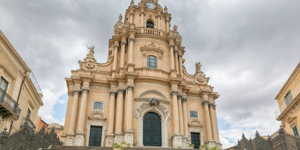 Ragusa, Sicily, July 26, 2016 view of a beautiful church of St G