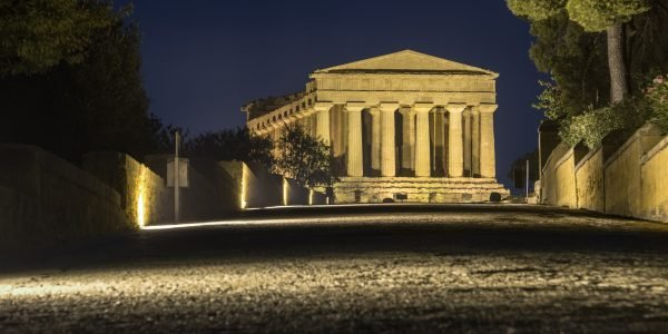 Temples In Agrigento Night In Sicily – Italy