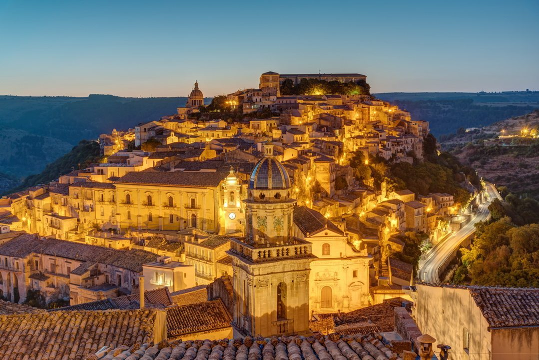 The old town of Ragusa Ibla in Sicily