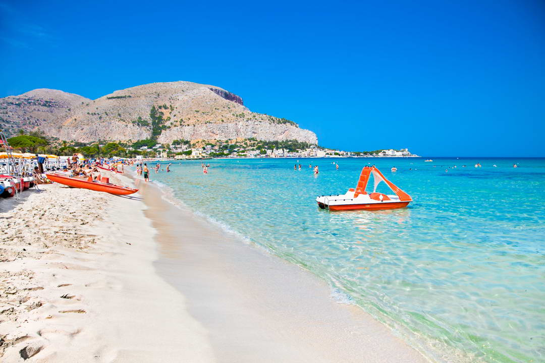 Mondello white sand beach
