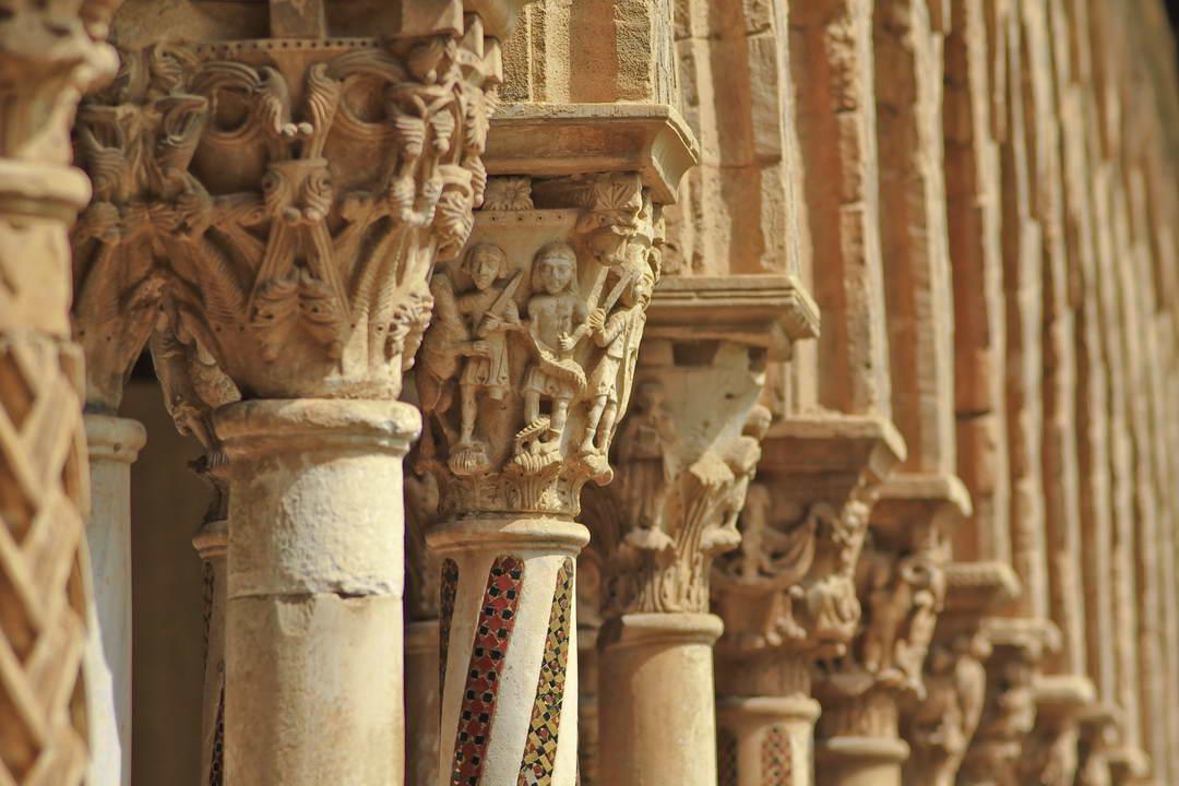 Monreale cloister, near Palermo,
