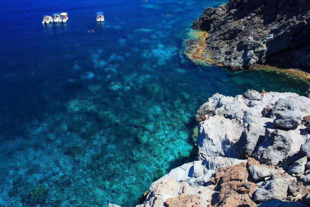 Pantelleria blue sea